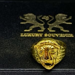 Lion Roar Ring with Lion Eye Stone